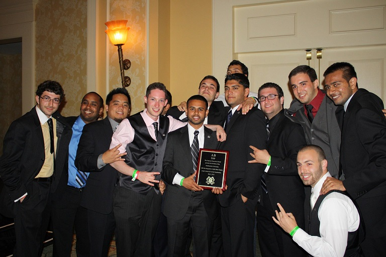Photo of brothers after chapter recognition